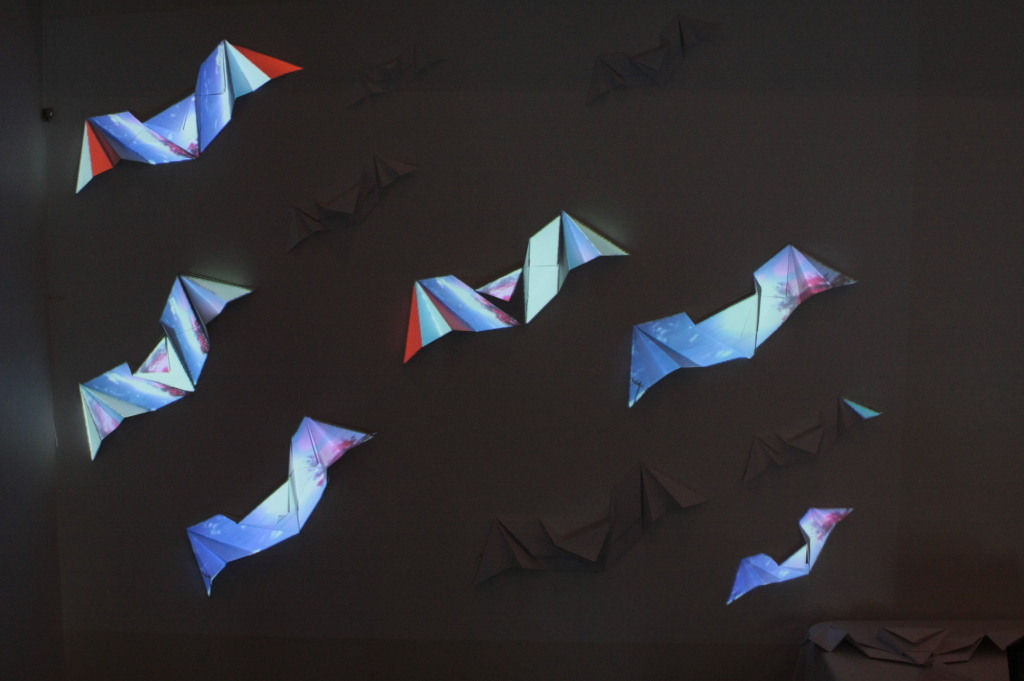 Alinta Krauth -'You Are Vital' projection mapped on origami installation